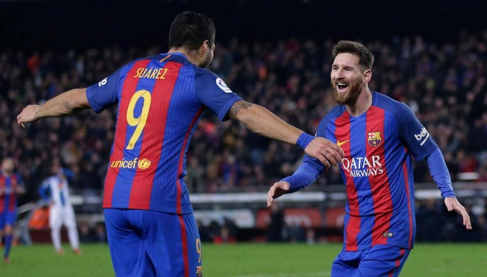 Barcelona on track for treble, says Messi