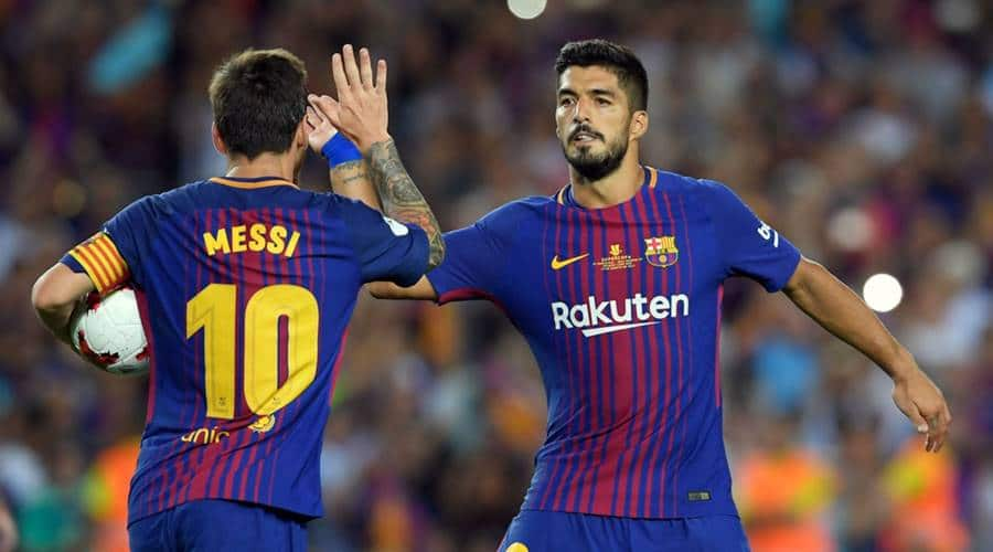 Lionel Messi and Luis Suarez have developed a great friendship during their time together at Camp Nou
