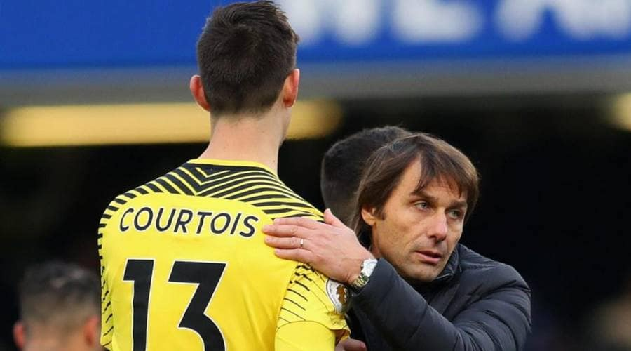 Antonio Conte's tactics were questioned by Thibaut Courtois