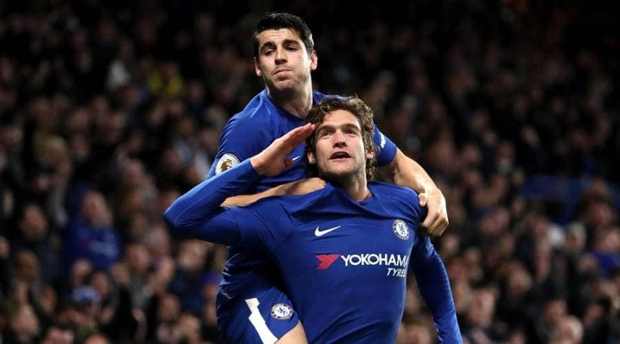 Marcos Alonso, Chelsea's left-back is their joint second highest goalscorer in the Premier League behind Alvaro Morata