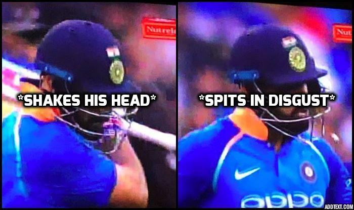 Virat Kohli extremely angry with himself after being dismissed by Jhye Richardson
