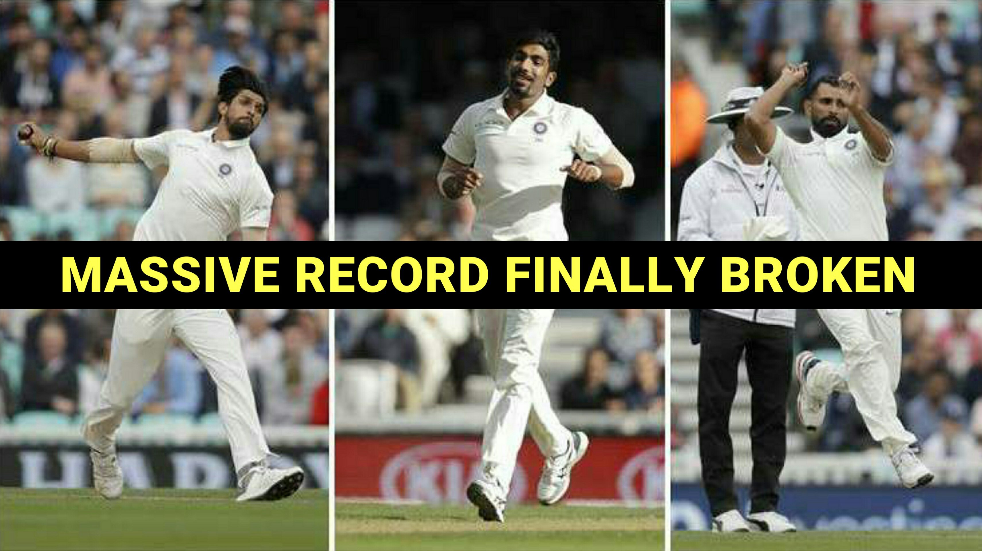 Ishant,Shami and Bumrah equals a Big record which will make you proud