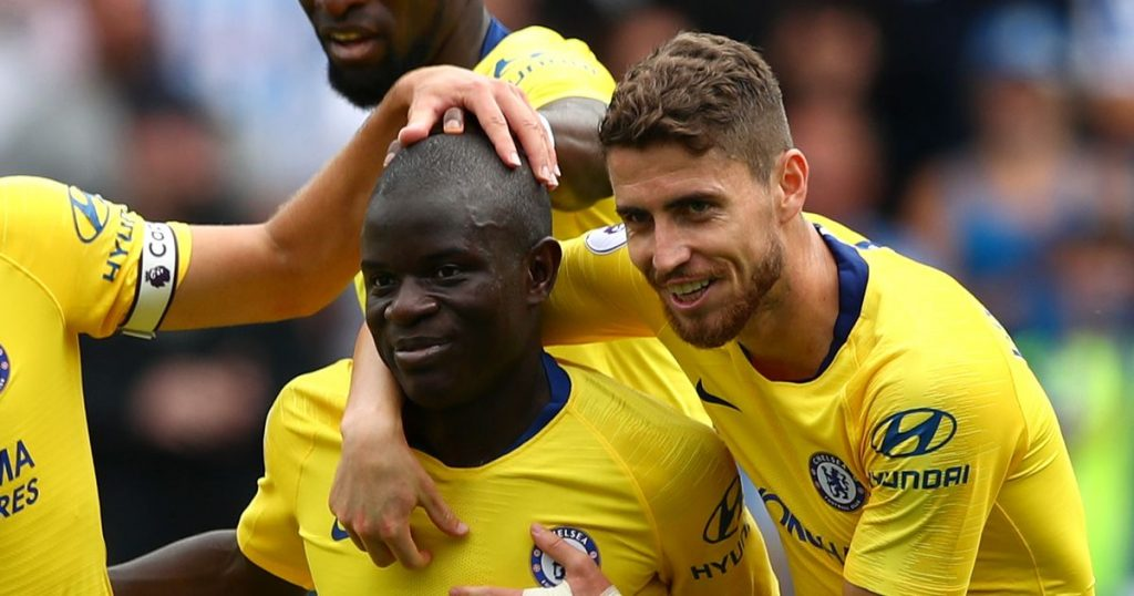 In the game against Palace, Frank went for a double pivot midfield of N'Golo Kante and Jorginho.