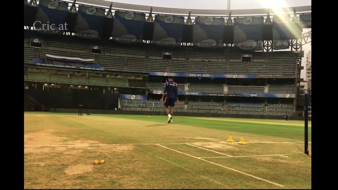 Player practicing in ground IPL