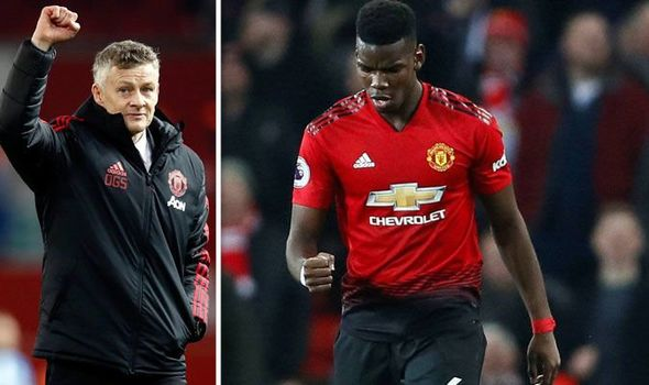 Manchester United boss Ole Gunnar Solskjaer and Paul Pogba-the12thman