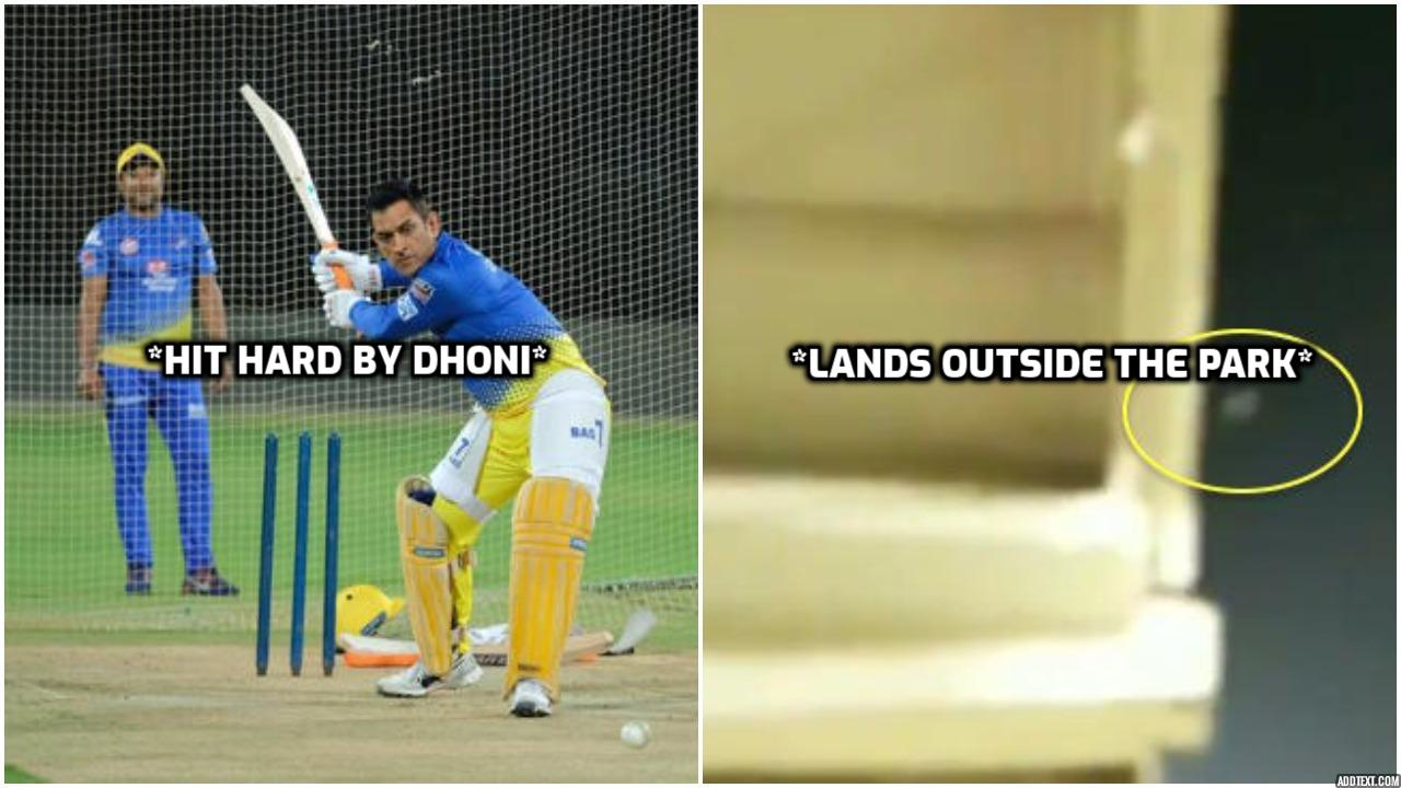 MS dhoni hit the ball and it land outside the park-the12thman