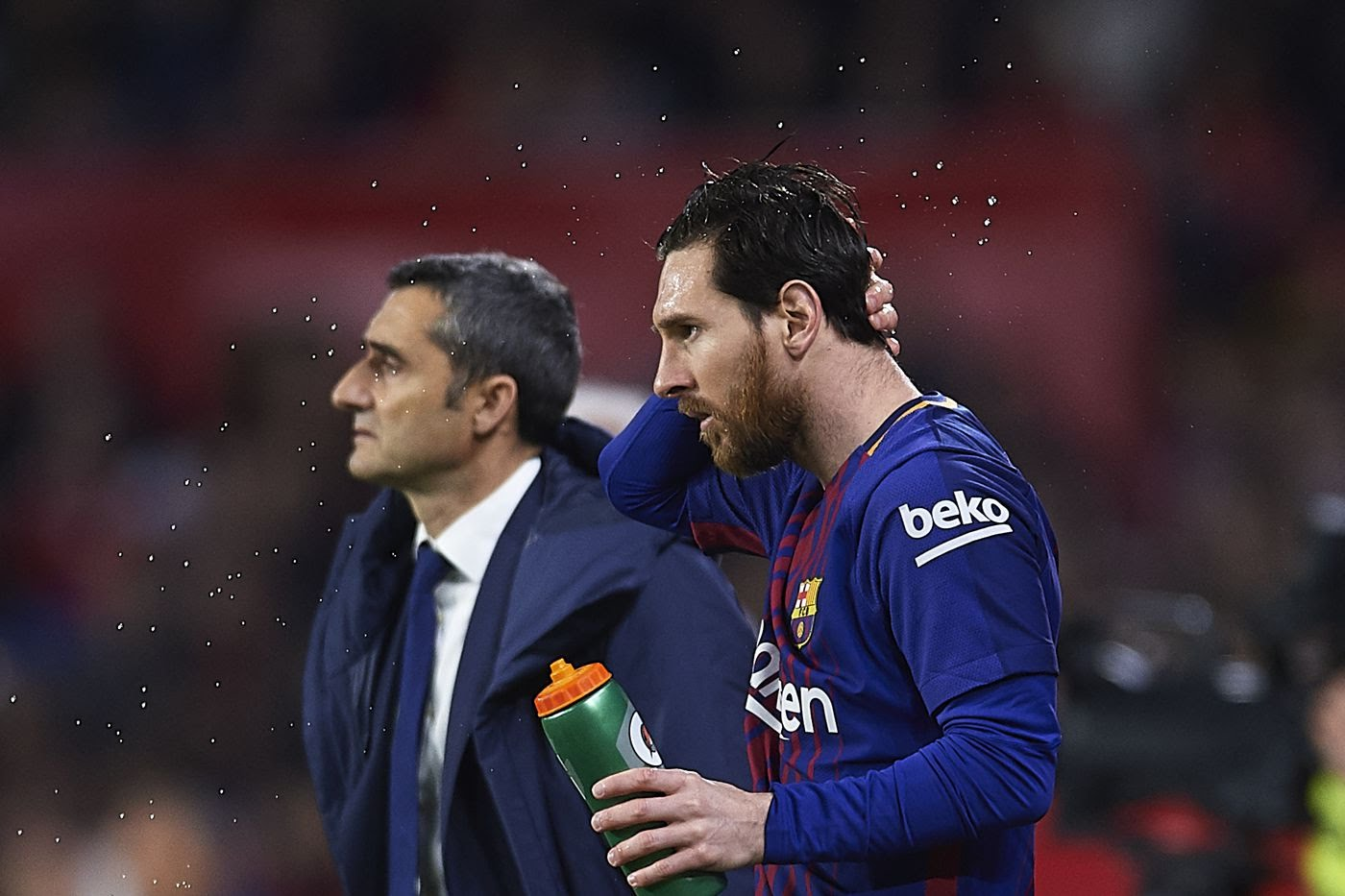 Barcelona's Manager talks about recent speculation of Messi leaving.