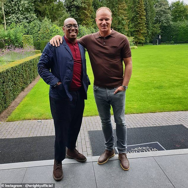 Dennis Bergkamp invited former Arsenal man Ian Wright to his home to film for his Youtube channel