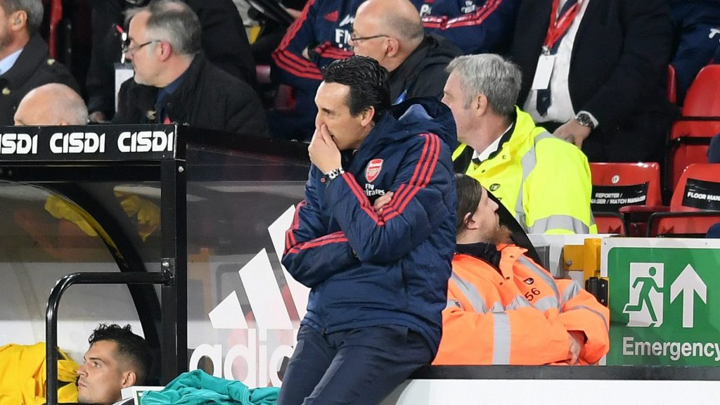 Emery takes a dig at former Arsenal manager after 1-0 defeat to Sheffield United