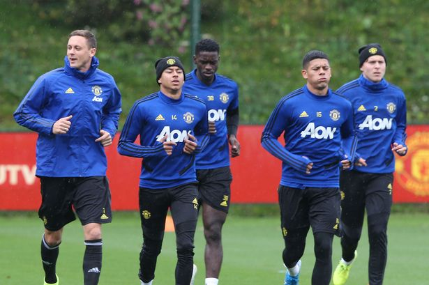 Manchester united players- lingard, matic, lindelof and rojo