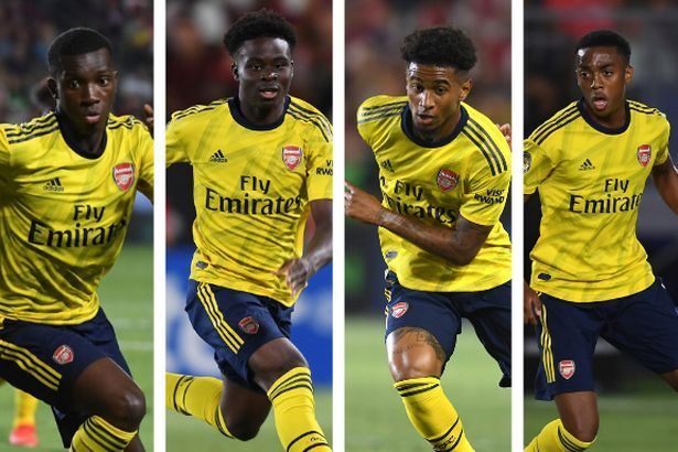 saka, nelson, willock and nketia