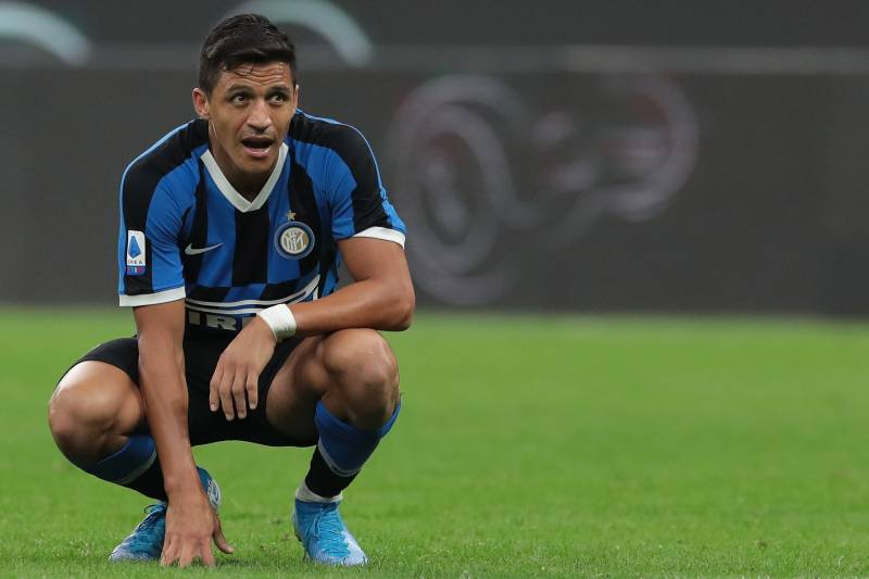 Sanchez is on loan from United at Inter Milan.