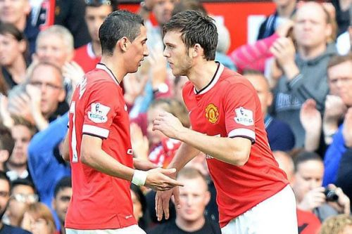 Tom Thorpe as a substitute for Di Maria for United.