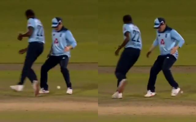 Jofra Archer cheekily nutmegs Eoin Morgan in Australia ODI