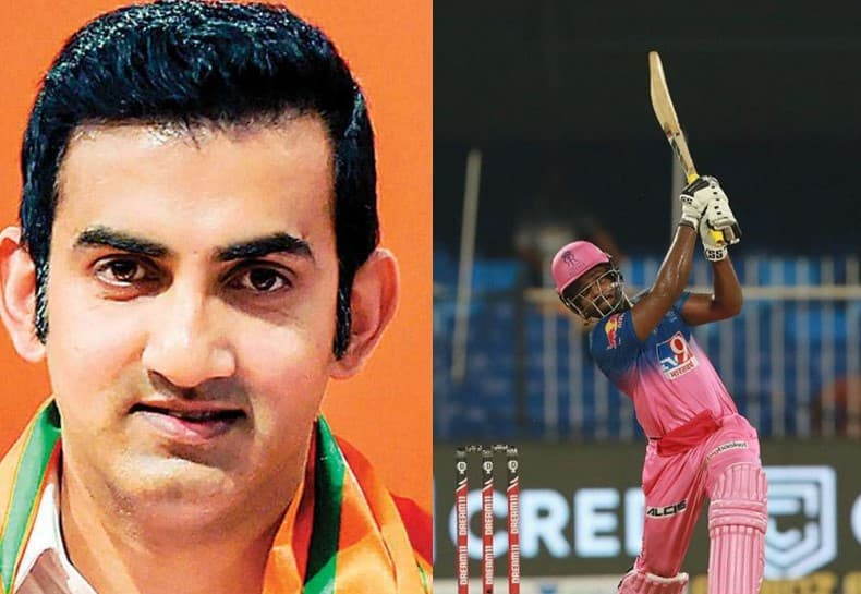 Fans hit out at Gambhir for his tweet on Samson taking a swipe at MS Dhoni