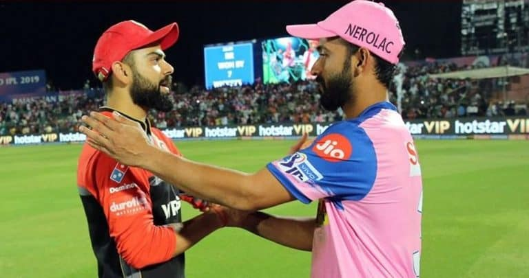 Friendly banter between RR and RCB before IPL