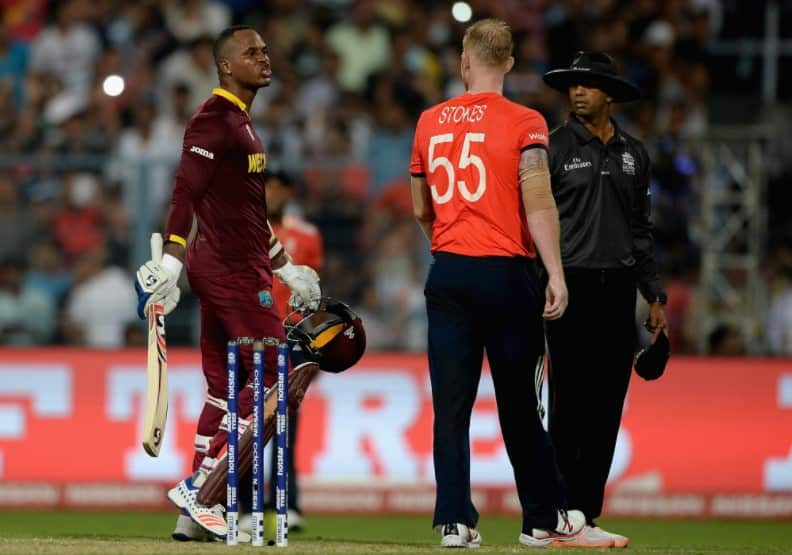 Marlon Samuels and Ben Stokes verbal exchange trigger massive outrage