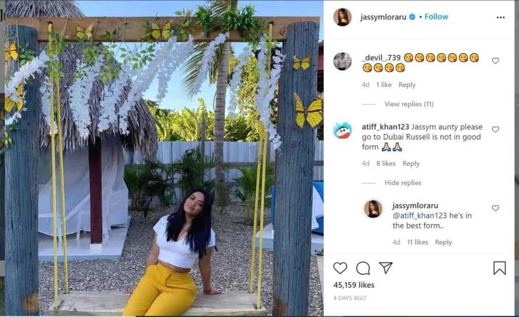 Russell wife shuts down a troll who made a distasteful remark