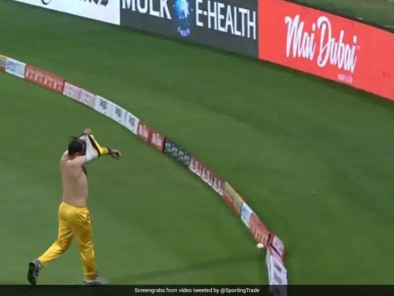 Watch: Hilarious moment took place in the Abu Dhabi T10 league