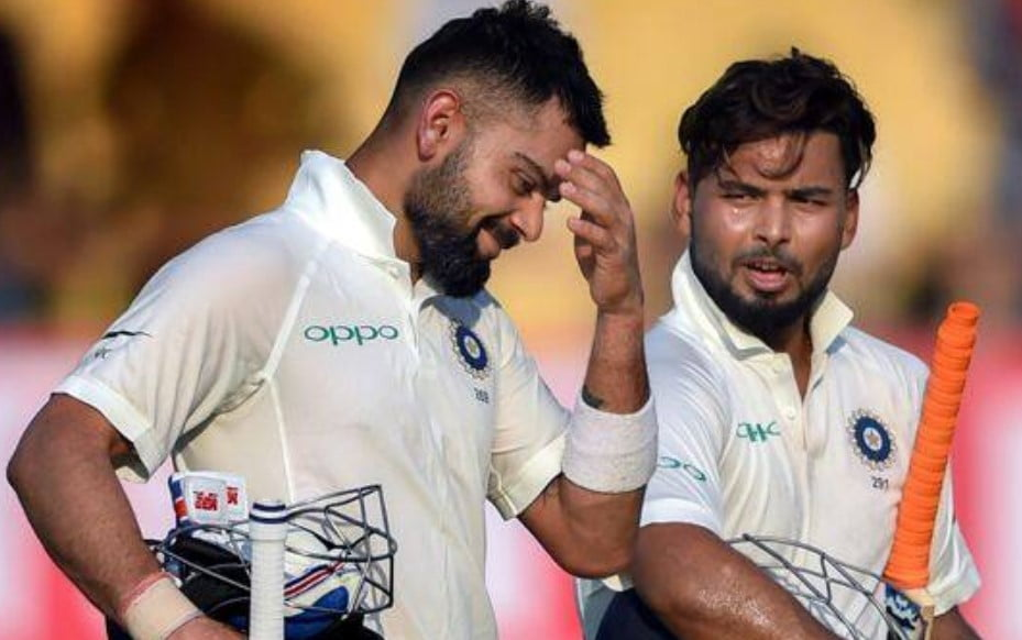 Rishabh Pant scares his captain Kohli with his new friend