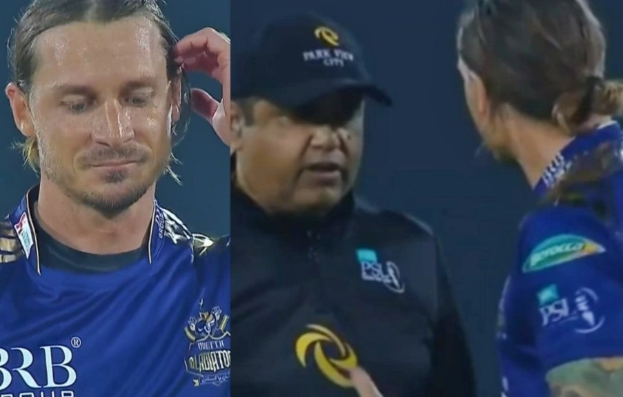 Dale Steyn loses his calm after a verbal spat with the umpire in PSL 6