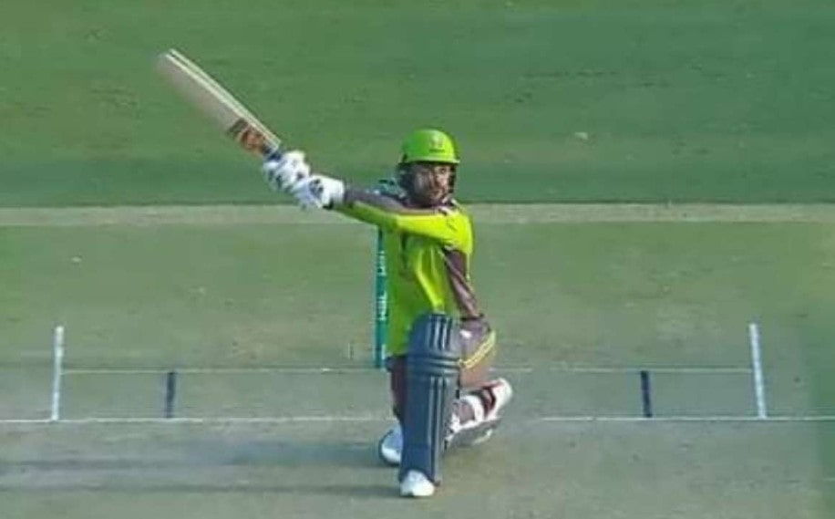 Video: Rashid Khan launches a helicopter shot for a six in PSL 6