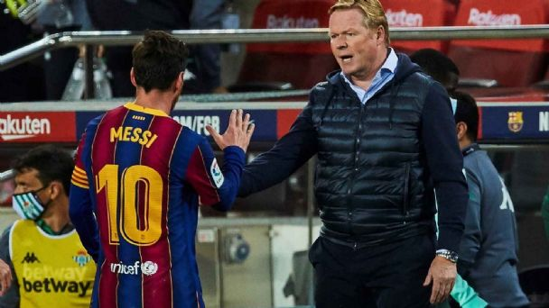 Ronald Koeman looked to be replaced by Barcelona management by Arteta